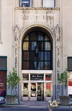 Detroit Free Press Building - Image: DFP Building 1