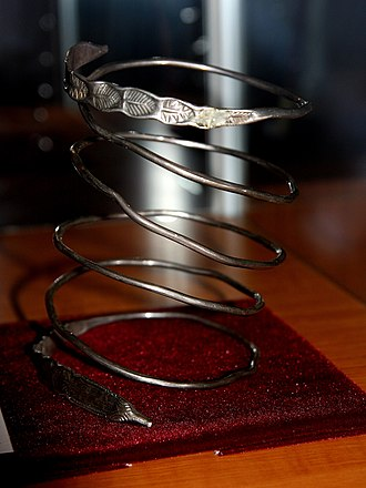 Dacian bracelets -  Silver bracelet from Rociu (Arges County)