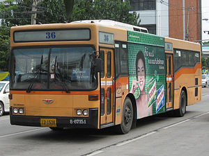 English: Daewoo bus in BMTA / Bangkok Thailand