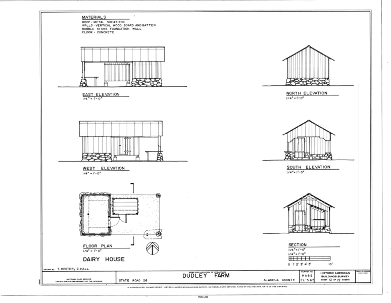 File:Dairy House - Elevations, Floor Plan and Section ...