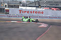 Dallara-Chevrolet DW12 Andretti-GoDaddy Racing James Hinchcliffe Morning Practice Through Turn1 SPGP 24March2012 (14676691676).jpg