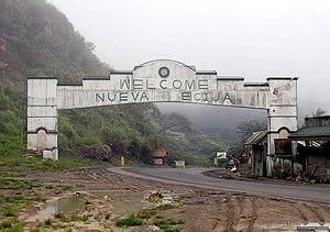 Dalton Pass - Gateway over Dalton Pass road on entering the municipality of Carranglan, Nueva Ecija
