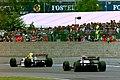 Damon Hill and Ukyo Katayama 1993 Silverstone.jpg