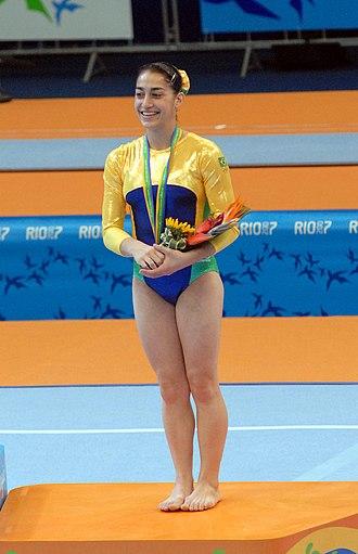 Daniele Hypólito - Daniele Hypólito at the 2007 Pan American Games