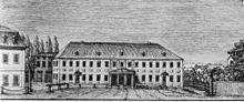 Das Weimarer Hoftheater um 1800 (Quelle: Wikimedia)