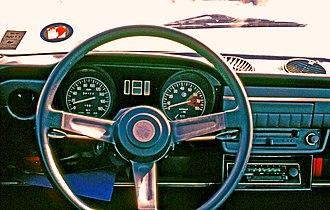 Alfa Romeo Alfasud - Alfa Romeo Alfasud dashboard.