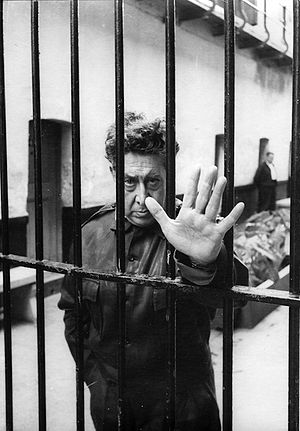 David Alfaro Siqueiros - Siqueiros by Héctor García Cobo at Lecumberri prison, Mexico City, 1960.