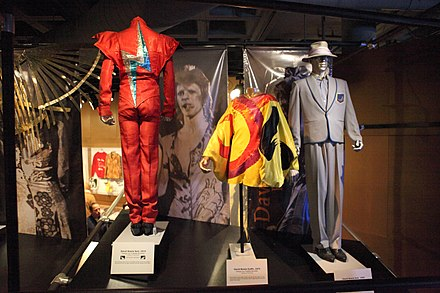 Variety of Bowie's outfits on display at the Rock and Roll Hall of Fame David Bowie's Outfits - Rock and Roll Hall of Fame (2014-12-30 13.09.55 by Sam Howzit).jpg