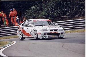 David Leslie (racing driver) - Leslie driving for Honda at Brands Hatch in the 1996 BTCC season.