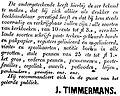 De Roermondenaar vol 001 no 001 advertisement J. Timmermans.jpg