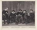 De vier Amsterdamse burgemeesters wachtend op het bericht van de aankomst van Maria de Medici, 1638.jpg