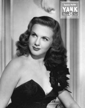 Deanna Durbin - Deanna Durbin on the cover of Yank, in January 1945