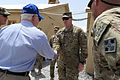 Defense.gov News Photo 110605-D-XH843-004 - Secretary of Defense Robert M. Gates meets with troops at a Forward Operating Base in Afghanistan on June 5, 2011.jpg