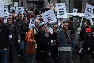 Standardization of Office Open XML - Protest against OOXML ISO standardization in Oslo, Norway.