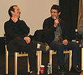Denis O'Hare and James Franco discussing Harvey Milk 2.jpg