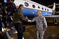 Deputy Defense Secretary Bob Work shakes hands with Air Force Lt. Gen. William H. Etter, commander of the Continental U.S. North American Aerospace Defense Command Region, known as CONR, as he arrives 150115-D-DT527-055c.jpg