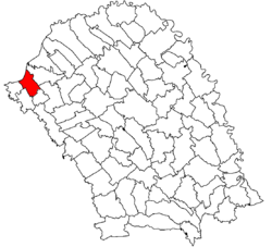 Location of Dersca, Botoşani
