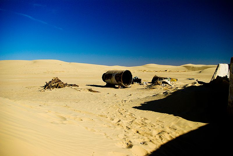 Desert Rocket, original Star Wars set. Mos Espa, Tunisia