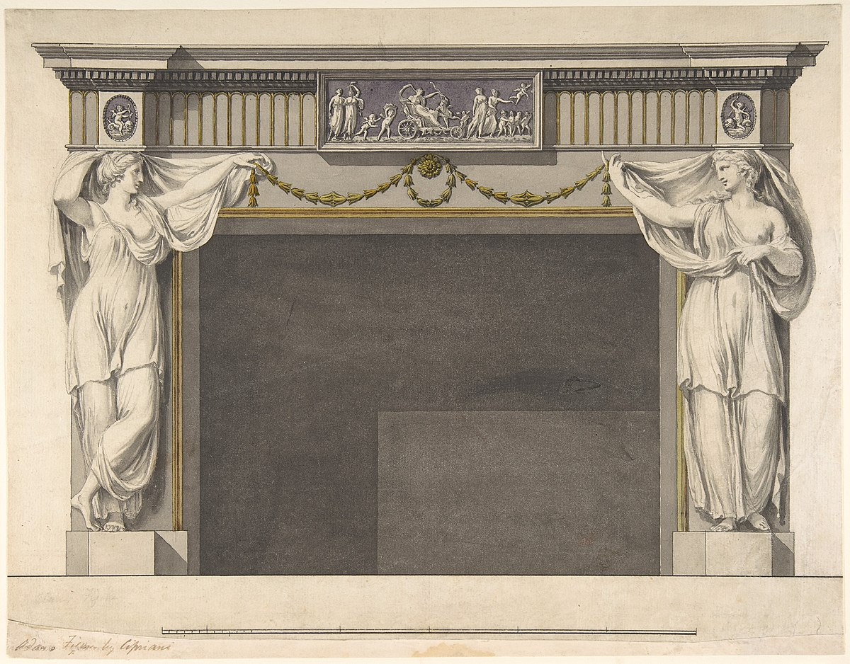 File:Design for a Chimney Piece in the Gallery, now Dining ...