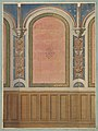 Design for the decoration of wall with wood panels and arched bays MET DP811213.jpg