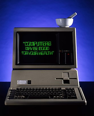 Apple III - An advertisement for access to health information through the Apple III
