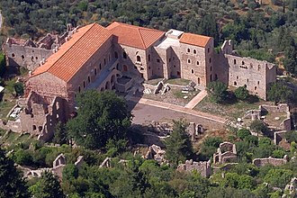 Culture of Greece - Overview of the Palace of Mystras, capital of the late Byzantine Despotate of Morea