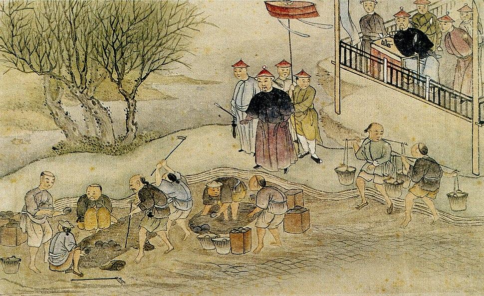 Destruction of opium in 1839