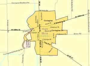 Covington, Ohio - Image: Detailed map of Covington, Ohio