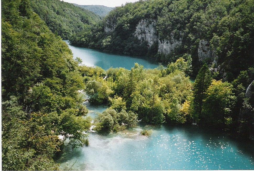 Deux lacs Plitvice