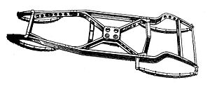 Lightening holes - 1935 car chassis, with lightening holes