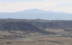 Devils Head (Sleeping Indian) as seen from Castle Rock CO.JPG