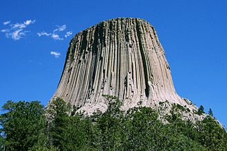 Close Encounters of the Third Kind - Devils Tower in Wyoming was used as a filming location