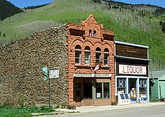Rico, Colorado - Dey Building, built in 1892 and listed on the National Register of Historic Places