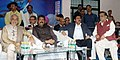 Dharmendra Pradhan and the Minister of State for Youth Affairs and Sports (IC) and Information & Broadcasting, Col. Rajyavardhan Singh Rathore watching the final match of the World Hockey League, at Kalinga Stadium.jpg