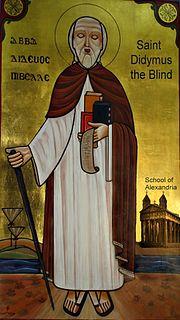 Didymus the Blind 4th century Alexandrian Christian theologian
