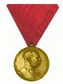 Die Jubiläums-Medaille 1898 Österreich-Ungarn Bronze Militär und Gendarmerie Ausfürung und Band.png