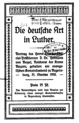 Die deutsche Art in Luther