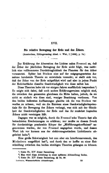 File:Die relative Bewegung der Erde und des Äthers.djvu