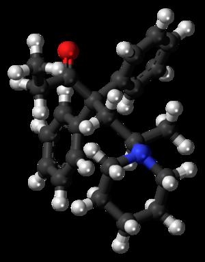 Dipipanone - Image: Dipipanone molecule ball