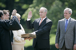Dirk Kempthorne - Kempthorne is sworn in as Secretary of the Interior on June 7, 2006.