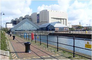 Dock Museum - The Dock Museum seen facing southwards towards Devonshire Dock Hall