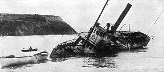 Dode (steamboat) - Image: Dode wrecked 1910