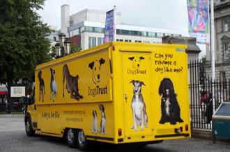 Dogs Trust - A Dogs Trust's truck in Belfast.