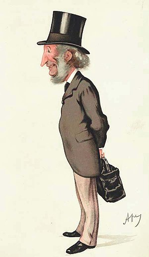 "Donald Currie - ""the Knight of the Cruise of Mr Gladstone"" Currie as caricatured by Ape (Carlo Pellegrini) in Vanity Fair, June 1884"