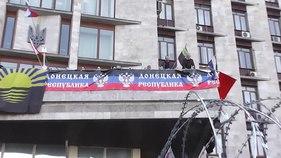 Dosiero: Donetsk Regional Admin (Urbodomo) - Barikadoj kaj Balcony.webm