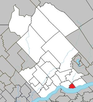 Donnacona, Quebec - Image: Donnacona Quebec location diagram
