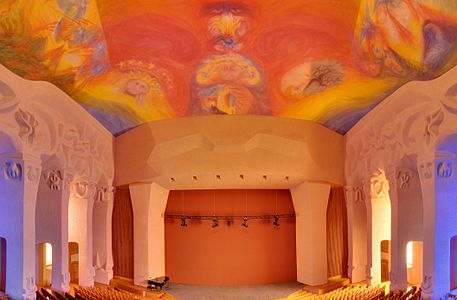 Goetheanum: Great hall and part of the fresco