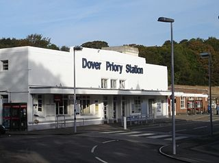 Dover Priory railway station main station in Dover in Kent