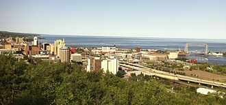 Duluth, Minnesota - Downtown Duluth and shorelines in 2012