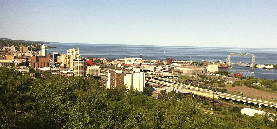 Downtown Duluth and shorelines in 2012